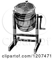 Clipart Of A Vintage Black And White Barrel Butter Churn Royalty Free Vector Illustration by Prawny Vintage