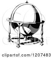 Vintage Black And White Ornamental Globe