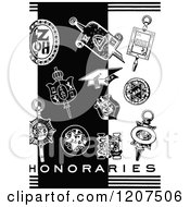 Vintage Black And White Graduation Items And Honararies Text