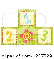 Cartoon Of A Pyramid Of 123 Number Blocks Royalty Free Vector Clipart