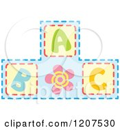 Cartoon Of A Pyramid Of ABC Alphabet Blocks Royalty Free Vector Clipart by Cherie Reve