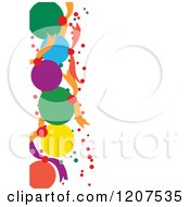 Cartoon Of A Christmas Bauble Background With White Text Space On The Right Royalty Free Vector Clipart by Cherie Reve