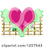 Heart With Flowers And Lattice