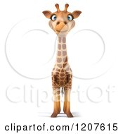 Clipart Of A 3d Happy Giraffe Royalty Free CGI Illustration