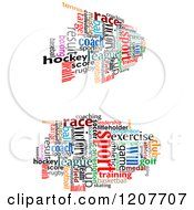 Clipart Of Colorful Sports Word Collages Royalty Free Vector Illustration by Vector Tradition SM
