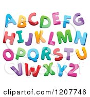Cartoon Of A Colorful Alphabet Letters Royalty Free Vector Clipart