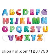 Cartoon Of A Colorful Alphabet Letters Royalty Free Vector Clipart by visekart