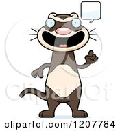 Cartoon Of A Talking Skinny Ferret Royalty Free Vector Clipart by Cory Thoman
