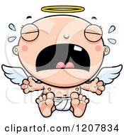 Cartoon Of A Crying Baby Infant Angel Royalty Free Vector Clipart by Cory Thoman