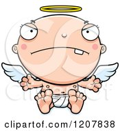 Cartoon Of A Mad Baby Infant Angel Royalty Free Vector Clipart by Cory Thoman