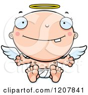 Cartoon Of A Baby Infant Angel Royalty Free Vector Clipart by Cory Thoman