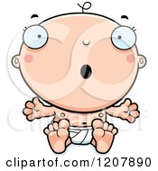 Cartoon Of A Surprised Baby Boy Infant Royalty Free Vector Clipart