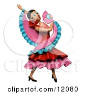 Clay Sculpture Clipart Gorgeous Female Flamenco Dancer Royalty Free 3d Illustration