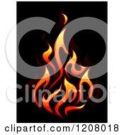 Gradient Flames Over Black 2