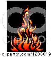 Gradient Flames Over Black 3