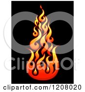 Gradient Flames Over Black