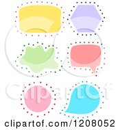 Cartoon Of Colorful Shape Label Frames With Dots Royalty Free Vector Clipart