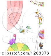 Cartoon Of Performing Circus Animals Royalty Free Vector Clipart by BNP Design Studio