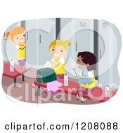 Clipart Of An Open Green School Locker Royalty Free