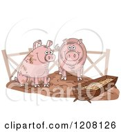 Pig Slop With Two Happy Swine