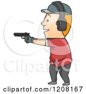 Man Target Shooting