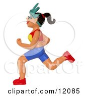 Clay Sculpture Clipart New York Marathon Runner Royalty Free 3d Illustration