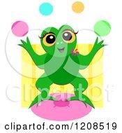 Happy Frog Juggling Balls