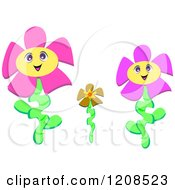 Two Happy Parent Flowers
