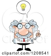 Cartoon Of A Science Professor With An Idea Royalty Free Vector Clipart