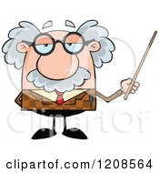 Cartoon Of A Professor Holding A Pointer Stick Royalty Free Vector Clipart