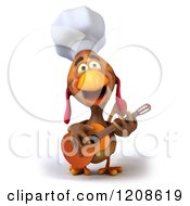 3d Chef Chicken Playing A Guitar
