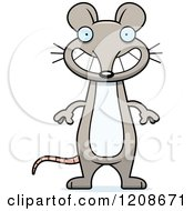 Cartoon Of A Happy Grinning Skinny Mouse Royalty Free Vector Clipart