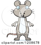 Cartoon Of A Surprised Skinny Mouse Royalty Free Vector Clipart