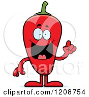 Cartoon Of A Smart Red Chili Pepper Mascot Royalty Free Vector Clipart by Cory Thoman