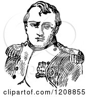 Clipart Of A Vintage Black And White Portrait Of Napolean Royalty Free Vector Illustration