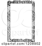 Clipart Of A Vintage Black And White Border Of Books Royalty Free Vector Illustration