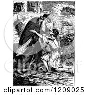 Vintage Black And White Scene Of The Prodigal Son Returns Parable Of Jesus
