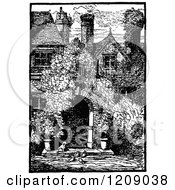 Vintage Black And White Old House