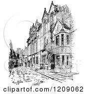 Clipart Of Vintage Black And White Cavendish Laboratory At Cambridge University Uk Royalty Free Vector Illustration