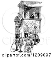 Vintage Black And White Punch And Judy Show