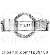 Vintage Black And White Finis Page Design