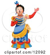 Clay Sculpture Clipart Opera Singer Woman Performing Royalty Free 3d Illustration