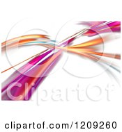 Clipart Of Colorful Fractal Swooshes Crossing Royalty Free Illustration