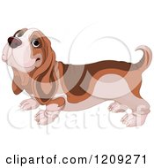 Cartoon Of A Cute Happy Basset Hound Dog Royalty Free Vector Clipart by Pushkin