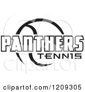 Clipart Of A Black And White Ball And PANTHERS TENNIS Team Text Royalty Free Vector Illustration by Johnny Sajem