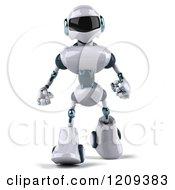 Clipart Of A 3d Techno Robot Walking Forward Royalty Free CGI Illustration