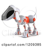 Clipart Of A 3d Robotic Dog Facing Left Royalty Free CGI Illustration