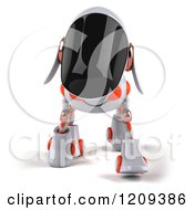 Clipart Of A 3d Robotic Dog Walking Forward Royalty Free CGI Illustration by Julos