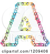 Clipart Of A Colorful Pixelated Capital Letter A Royalty Free Vector Illustration