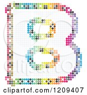 Clipart Of A Colorful Pixelated Capital Letter B Royalty Free Vector Illustration
